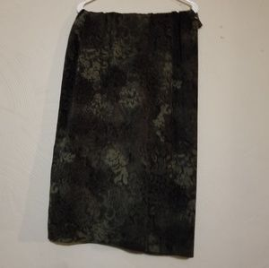 Dark green floral skirt
